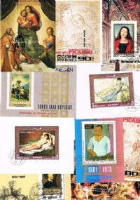 10 different paintings miniature sheets packet